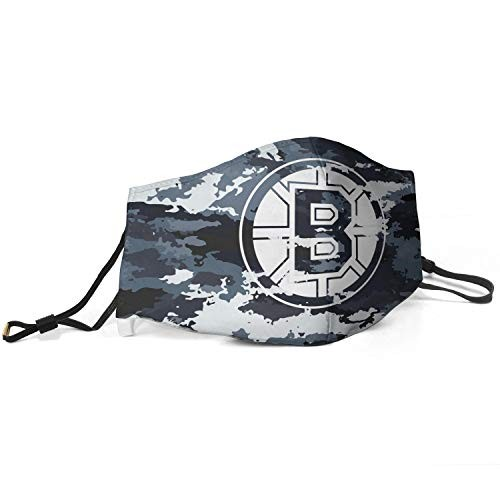 Adult Mens Black Cloth Washable Fashion Motorcycling Face Cover Bavaclava for NBA Team Boston Bruins face cover